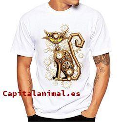 camisetas con gatos baratos