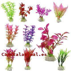 plantas plasticas para acuarios baratos